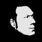 Aaron Rutten Face (B&W)