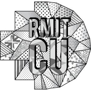 RMITCU Hoodie Logo Greyscale