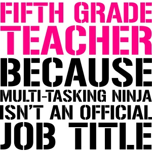 Fifth Grade Ninja Teacher Funny Teacher T-shirts
