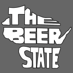 The beer state WI (white)