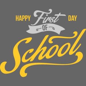 1st Day of School gray yellow