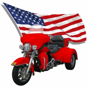 Trike with Flag