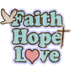 Retro Faith Hope Love Christian