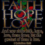 Faith Hope Love Christian Bible