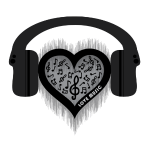 Love Music rhythm heart beat