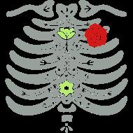 Design ~ Sugar Skull Ribcage with Rose