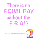 No Equal Pay ERA Pink