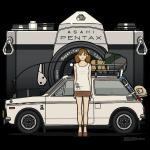 Honda N600 Asahi Pentax Commercial Tourist Girl