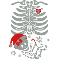 Design ~ Santa Skelly Baby - Girl