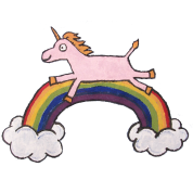 Unicorn Jumping Over Rainbow