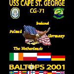 CAPE ST GEORGE 2001