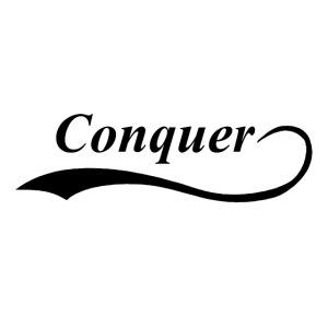 """Conquer"" Baseball T-Shirt"