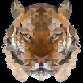 Cool Low Polygon Tiger