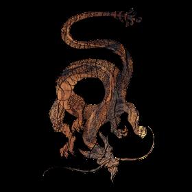 Eastern Dragon - Wood Grain