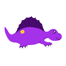 Cute Purple Stegosaurus