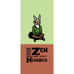 Nimbus and logo full color, vertical format
