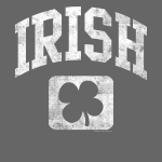 Grunge Irish Logo St Patricks Day