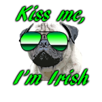 Kiss Me I'm Irish Pug Dog