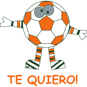 Te Quiero Statement I love you Soccer Ball