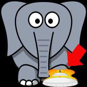 Elephant shoe I Love You