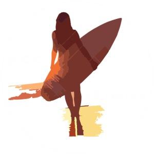 surf girl white