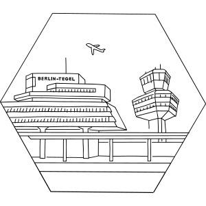 Airport Tegel in Berlin