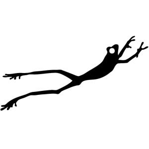 Frog logo Black