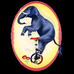 Elephant-Unicycle Oval