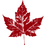 Canada Maple Leaf Souvenir Retro Distressed