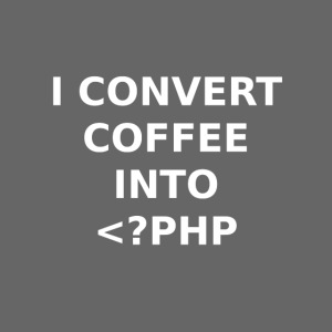 Convert coffee into PHP