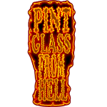 Pint Glass From Hell