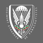 1er REP - Foreign Legion - Badge - White