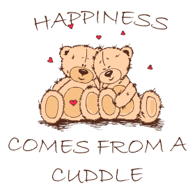 Happiness Comes From a Cuddle