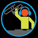 Trombone DJ Logo
