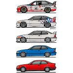 Stack of E36 Coupes