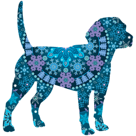 Boho Snowflakes Beagle