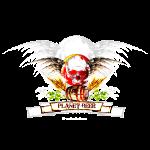 Planet Beer Skull & Keg Gothic 2 Tone