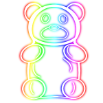 Neon Rainbow Gummy Bear
