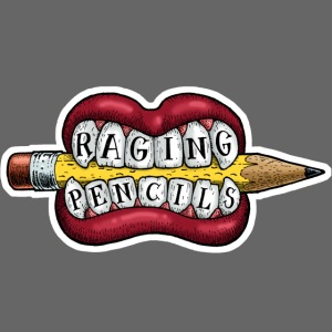 Raging Pencils Bargain Basement logo t-shirt