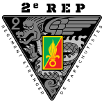 2e REP - Foreign Legion - Badge - Dark
