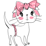 Cat_Pink BowClean