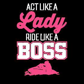 Snowboarding Like A Boss Women's T-Shirt