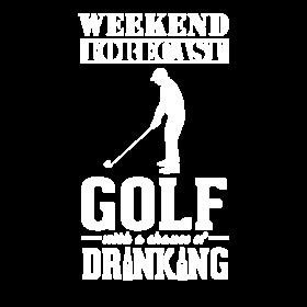 Golf Weekend Forecast & Drinking T-Shirt