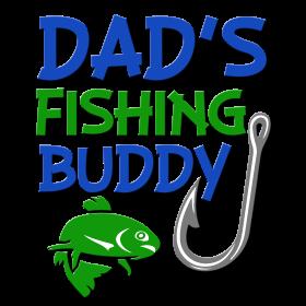 Dad's Fishing Buddy funny baby boy shirt