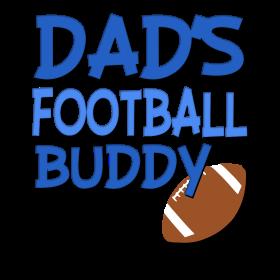 Dad's Football Buddy funny baby boy shirt