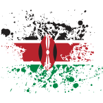 Kenya Flag Splash