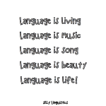 language poem