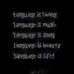 language poem
