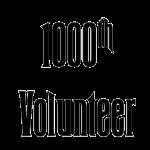 1000th Volunteer