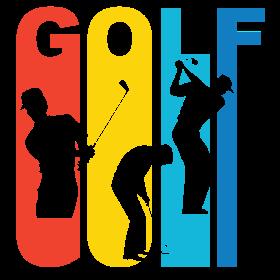Retro Golf Golfing